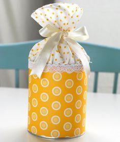 Potes de doces reciclados para lembrancinhas de chá de bebê | Como fazer em casa Artesanato