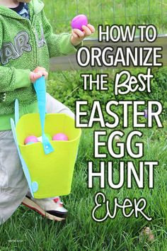 Hosting an Easter egg hunt? Use these easy tips to plan a super fun and stress free Easter egg hunt for your family and friends! Includes fun Easter games to play too. Organize the best easter egg hunt in town with these easy tips!
