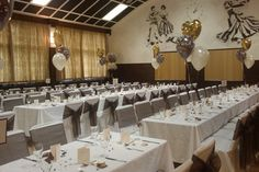White Chair Covers with Chocolate Brown Organza Sash
