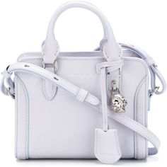 Alexander McQueen mini 'Padlock' tote ($1,060) ❤ liked on Polyvore featuring bags, handbags, tote bags, zip top tote bag, mini tote, leather tote handbags, handbags totes and skull tote bag