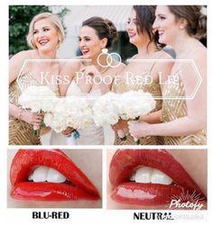 Perfect #Wedding Reds, #colourstay #waterproof #smudgeproof #lipsense #lipstick from #SeneGence
