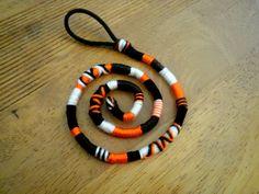 Atebas amovible orange marron noire et blanche - 44cm tresse indienne : Accessoires coiffure par stonanka