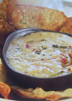 Salsa cremosa de queso para dip o para acompañar carnes
