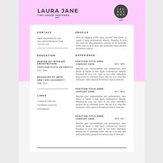 Cover Letter And Resume Template Modern Resume & Cover Letter Template3 Page Bundle With Fonts
