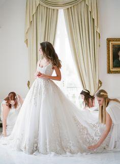 Gorgeous princess ballgown: http://www.stylemepretty.com/2017/02/24/25-dresses-guaranteed-to-fulfill-your-wedding-fantasies/ Photography: Jenna Keech - http://jemmakeech.com/