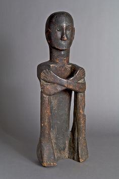 Ancestor Figure (Bulul) | Luzon, Philippines -  Kankanay | 19th century; Wood with glass 74 x 24 x 17 cm (29 1/8 x 9 7/16 x 6 11/16 in.)