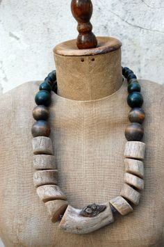 Chunky driftwood necklace