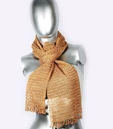 Buy Silky Crochet Stole | Brown scarf online