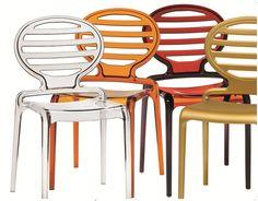 Transparante stoel   Kantinestoel   Restaurantstoel   Gio   MV kantoor