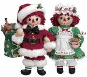 Raggedy Ann & Andy Christmas Dolls by Danbury Mint U$185