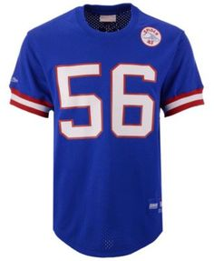 e2d210ce70e Mitchell & Ness Men's Lawrence Taylor New York Giants Mesh Name and  Number Crewneck Jersey
