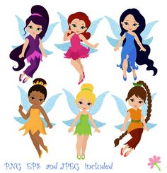 Fairies Digital ClipArt / Fairy Digital Clip art / Cute Fairies For Personal and commercial use/ Instant Download on Etsy, $5.00
