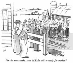 """""""In six more weeks, these M.s will be ready for market."""" - New Yorker Cartoon Poster Print by Peter Steiner at the Condé Nast Collection. Teacher Cartoon, Business Cartoons, Funny Jokes For Adults, New Yorker Cartoons, Cartoon Posters, The Far Side, Word Pictures, Business Presentation, The New Yorker"""