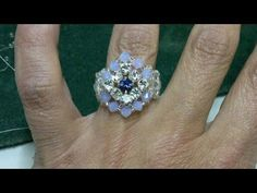 ▶ Beading4perfectionists : Chaton Montees ring beading tutorial - YouTube