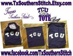 TCU  Mini  Personal Tote Bag by TxSouthernStitch on Etsy, $23.00