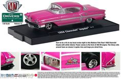 1958 Chevy Impala M2 Machines DRIVERS 1:64 Scale Release 15 medium pink pearl