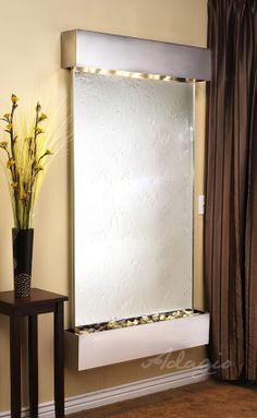 Bring the calm sounds of water indoors with a wall fountain from Serenity Health, like the Adagio Summit Falls Wall Fountain. Decor, Mirrored Glass, Plastic Sheets, Cinder Block Walls, Silver Mirrors, Wall, Wall Fountain, Glass, Water Walls