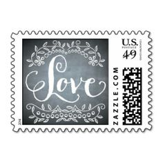 Chalkboard - Save the Date Postage Stamp. Wanna make each letter a special delivery? Try to customize this great stamp template and put a personal touch on the envelope. Just click the image to get started!
