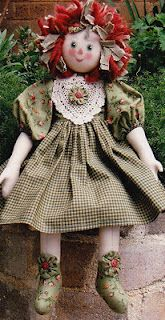 Australia rag doll patterns raggy Rose Love her shoes Doll Clothes Patterns, Rag Doll Patterns, Raggy Dolls, Homemade Dolls, Victorian Dolls, Raggedy Ann And Andy, Soft Dolls, Collector Dolls, Doll Crafts