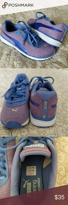 Puma Women's EcoOrthoLite Running Shoes Heather Purple Puma Women's Running Shoes. Great Condition, Only worn 3 times!!! Extremely comfortable with great padded insoles!! Very cute at the gym or for casual wear when out and about running errands :) Puma Shoes Athletic Shoes