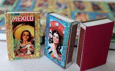 Mexican Fiesta Matchbox Party Favors  Señorita by DosBorreguitas