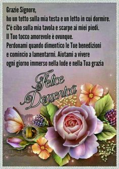 Buona Domenica grazie Signore Italian Memes, Good Morning, Smiley, Madonna, Sunday, Google, Sink Tops, Frases, Mother Teresa