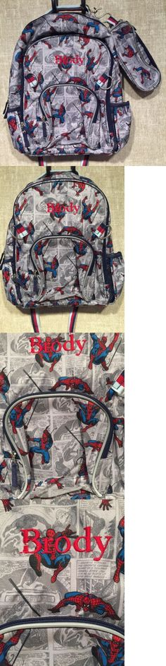 Backpacks and Bags 57882: Nwot Pottery Barn Kids Large Backpack Combo,Spider Man, Monogram: Brody -> BUY IT NOW ONLY: $34.99 on eBay!
