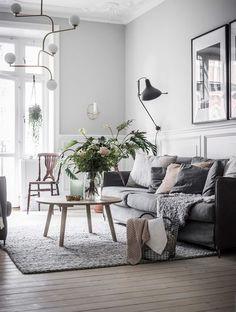 A Scandinavian Home in Grey Tones + Blog Ramblings