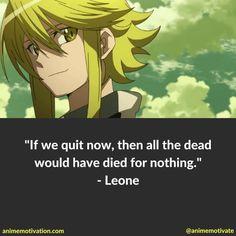 Akame ga Kill! - Leone Quote
