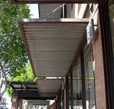 awnings helena steel window winery trinchero coated powder at gray st awning