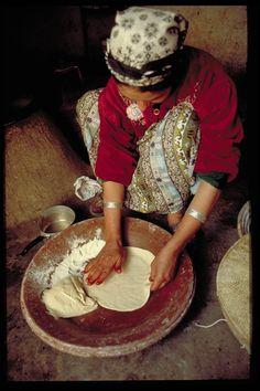 Making Moroccan crepes