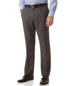 Love the heck out the these dress pants. Perry Ellis Portfolio Slim Fit No-Iron Flat Front Dress Pants. #menswear