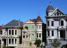 "Alamo Square ""Painted Ladies"" Victorian homes."