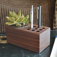 The Planter Handmade Walnut Wood Pen and by DudekModernGoods