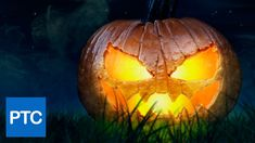 Awesome #Photoshop tutorial showing you how to turn an ordinary pumpkin into a frightening Halloween jack-o-lantern.