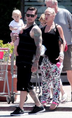Pink and Carey Hart with Willow