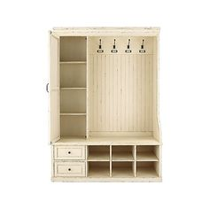 Silas Mudroom Cabinet in French White Mudroom Cabinets, Shoe Room, Go Shopping, Home Remodeling, Living Room Furniture, Locker Storage, Bookcase, French, Organization