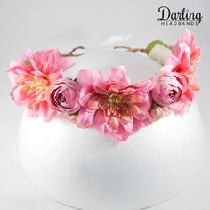 This pleasantly, pink mixed flower headband is for girls age Goes with any party dress for girls. Girls Party Dress, Girls Dresses, Floral Headbands, Flowers, Pink, Jewelry, Jewlery, Jewels, Jewerly