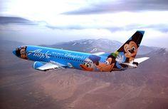 Alaska Airlines The Spirit of Disneyland Boeing 737-400.