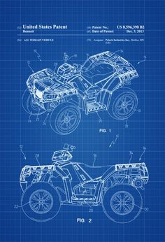 Delicieux Polaris ATV Patent 2013 U2013 Patent Print, Wall Decor, All Terrain Vehicle,  ATV, Polaris, Outdoorsman, Cabin Decor