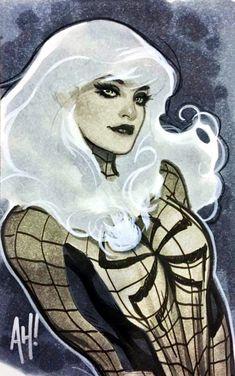 Black Cat (Felicia Hardy) by Adam Hughes Comic Book Artists, Comic Artist, Comic Books Art, Artist Art, Adam Hughes, Spiderman Girl, Spiderman Pictures, Diamond Comics, Black Cat Marvel