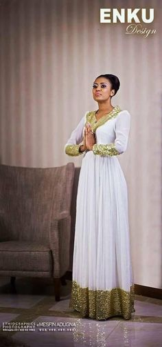 Ethiopian women's traditional dresses and fashion ( Courtesy - Hiwot Girma ) African Attire, African Wear, African Women, African Dress, African Fashion, Ethiopian Traditional Dress, Traditional Dresses, Ethiopian Wedding, Ethiopian Dress