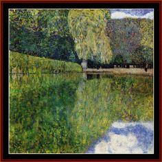 Park of Schonbrunn - Klimt Cross Stitch Pattern by Cross Stitch Collectibles