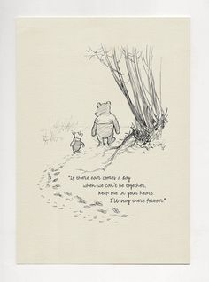 Winnie the Pooh Quotes - classic vintage style poster print If there ever comes a day. Winnie the Pooh Quotes classic Mom Quotes From Daughter, Mothers Day Quotes, Winnie The Pooh Classic, Disney Winnie The Pooh, Vintage Stil, Style Vintage, Pooh And Piglet Quotes, Quote Prints, Poster Prints