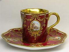 Freehand countryside scenery series @ music in the porcelain :: ruffian PIXNET :: Antique Tea Cups, Vintage Cups, Vintage Tea, Tea Cup Set, Cup And Saucer Set, Tea Cup Saucer, Cafetiere, Teapots And Cups, Tea Time
