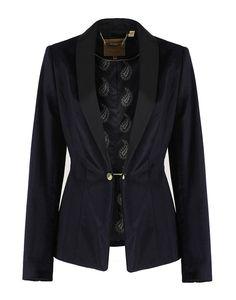Ted Baker Women's Katcia Velvet Tuxedo Suit Jacket - Blue