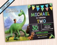 The Good Dinosaur Birthday Party Invitations Invites by PartiesByG