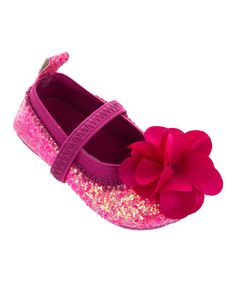 Look at this Laura Ashley Fuchsia Glitter Ballet Flat on #zulily today!