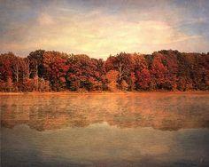 Hidden Gems, an autumn lake landscape