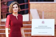 "Today, Queen Letizia attended the Opening of the Professional Training Course 2015/2016 at the Instituto de Educación Secundaria ""Javier García Téllez"", in Cáceres"